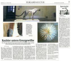 Raubtier unterm Kreuzgewölbe, Sächsische Zeitung, 18.06.2012, Udo Lemke