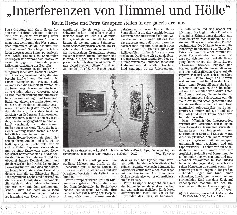 Dresdner Neueste Nachrichten, 25.09.2012, Karin Weber
