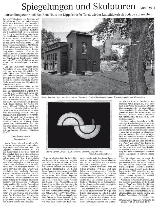 Dresdner Neueste Nachrichten 11.06.2013, Gunther Ziller