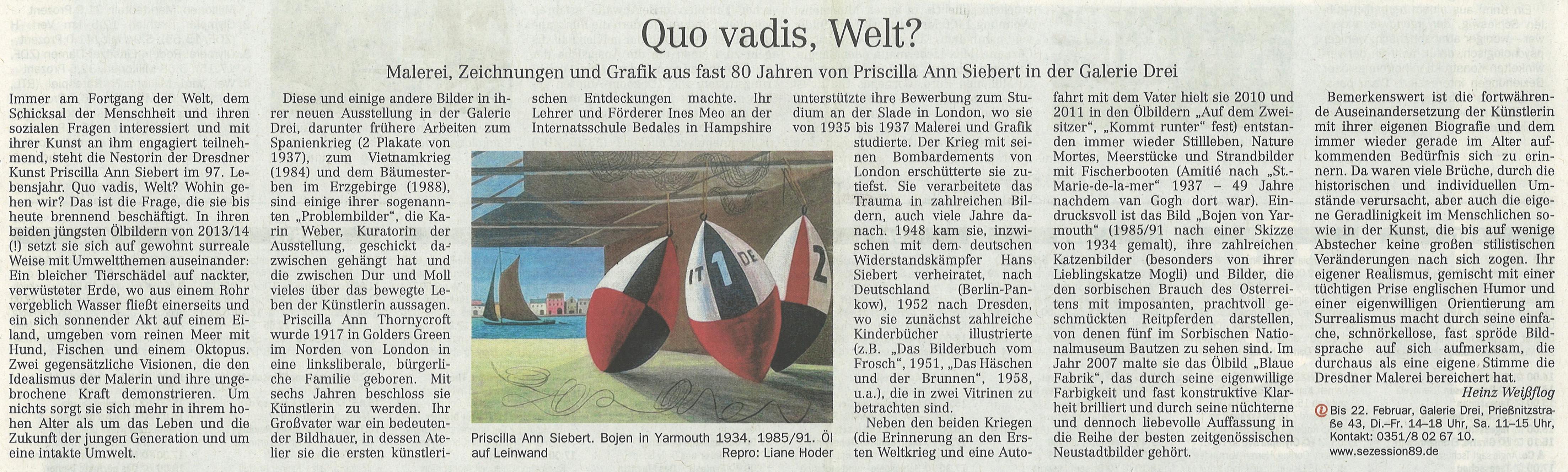 DNN 12.02.2014 Ann Siebert von Heinz Weißflog