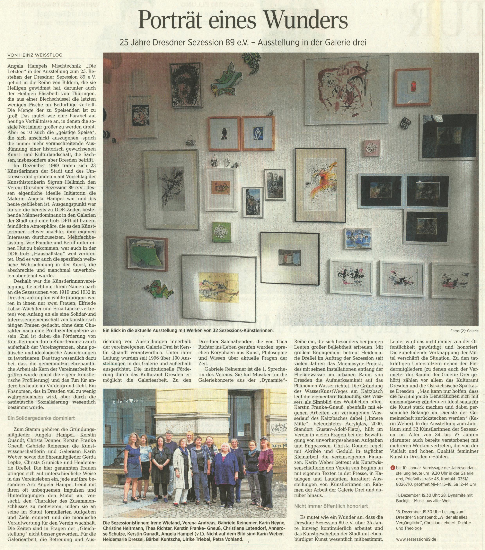 Dresdner Neueste Nachrichten 28.10.2014, Heinz Weißflog