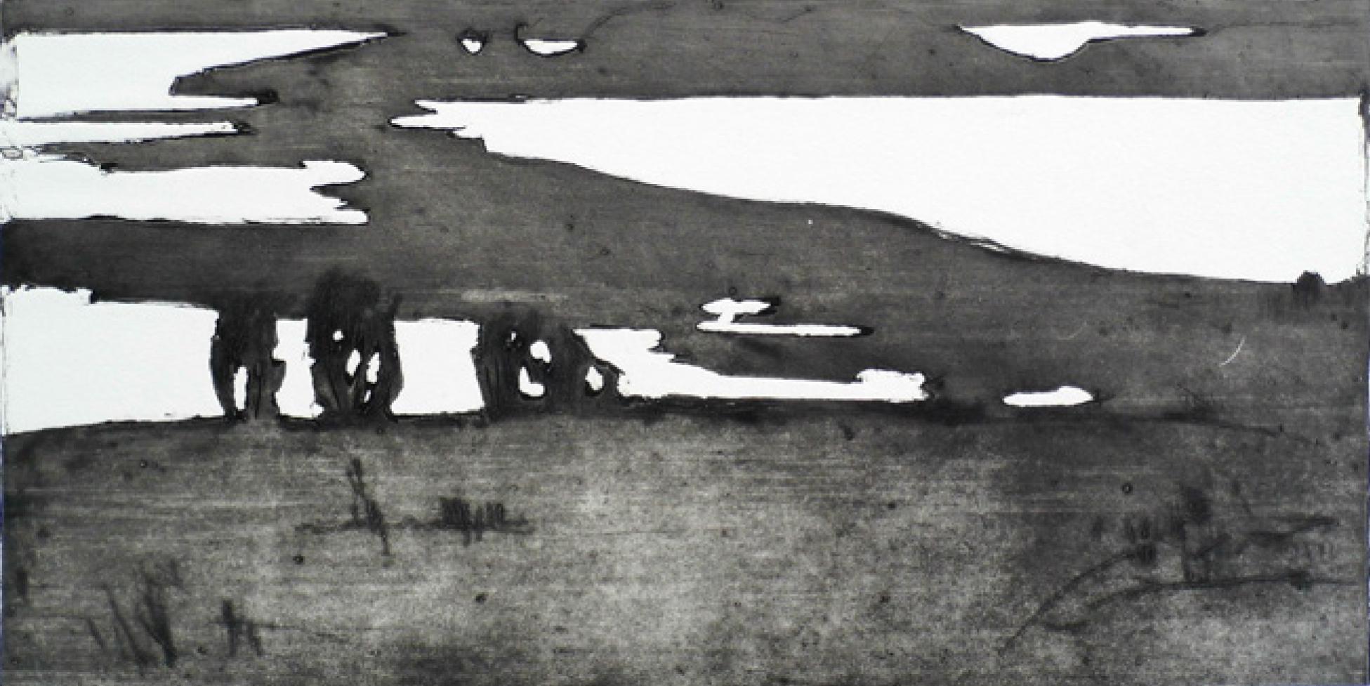 1 | Rita Geißler | Boddenlandschaft | 2011 | Radierung | 22 x 42 cm | Kunstlotterie