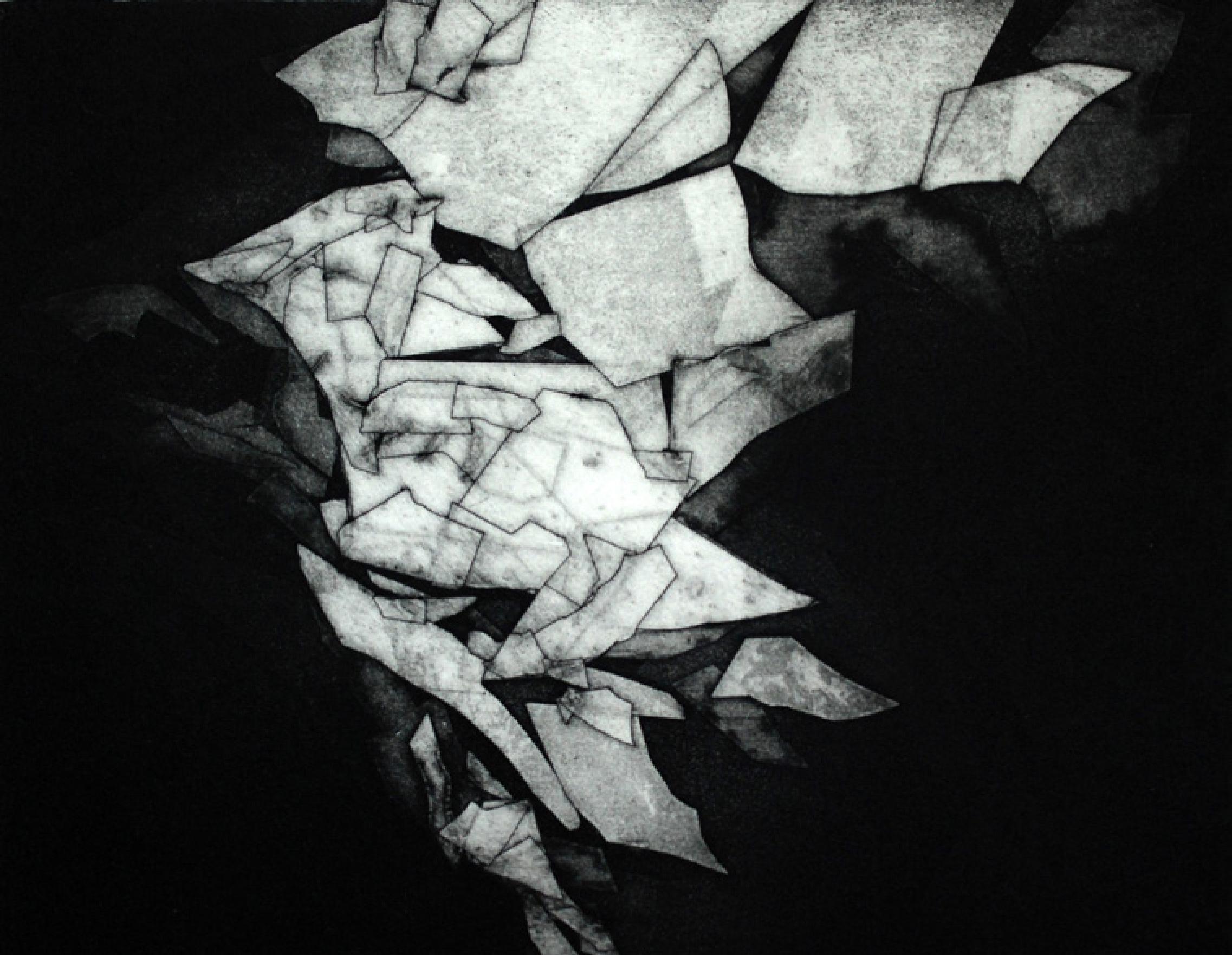 12 | Kerstin Franke-Gneuß | Wechsel | 2017 | Aquatinta | 26,7 x 43,3 cm | Kunstlotterie