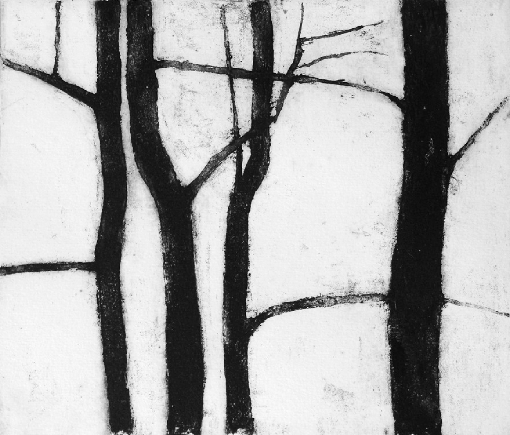 17 | Rita Geißler | Vier Bäume | 2006 | Radierung | 21 x 25 cm | Kunstlotterie