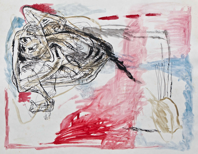 Petra Vohland, ohne Titel, ohne Jahr, Mischtechnik, 55 x 70 cm, Foto: Hans Strehlow