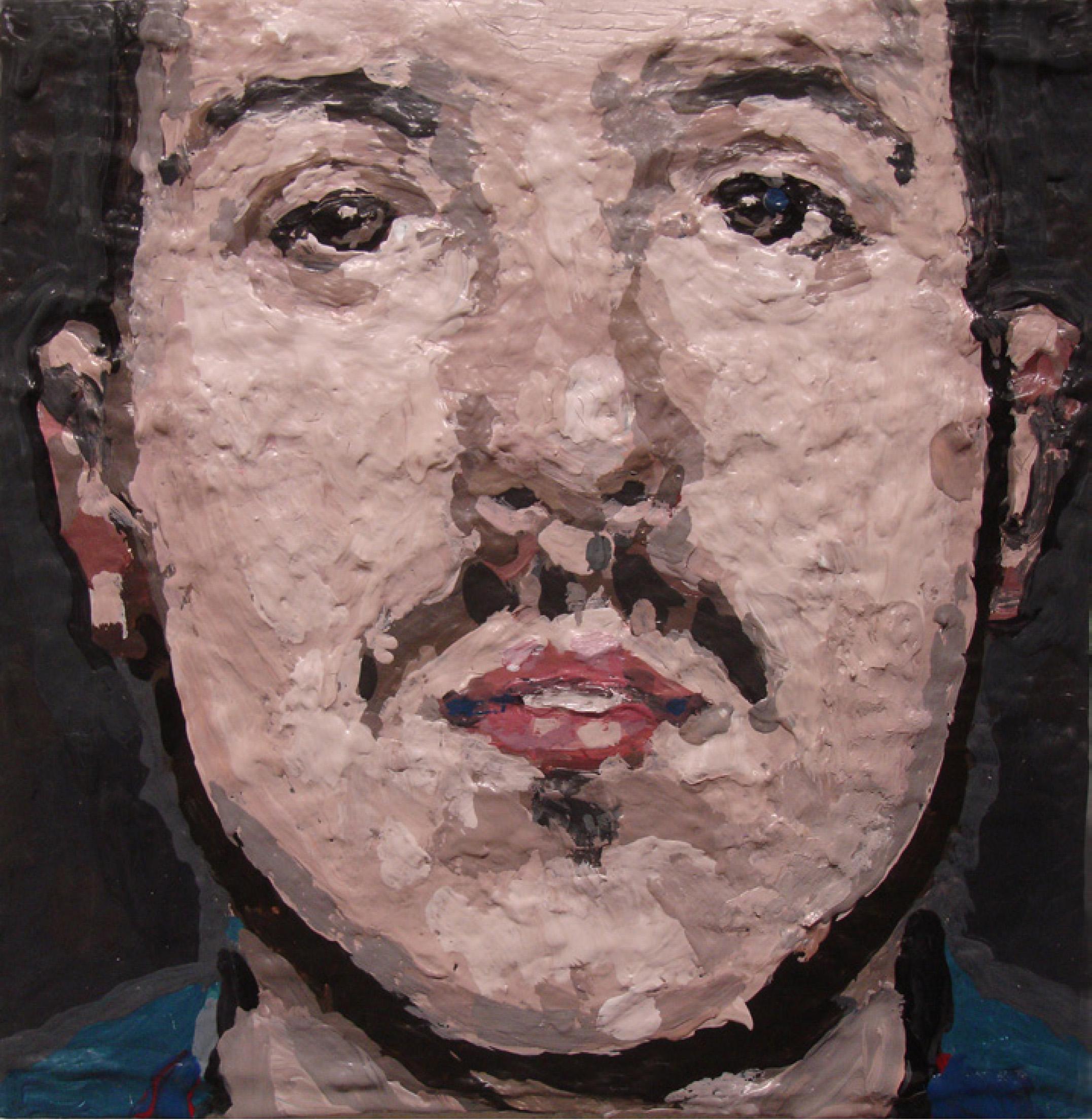 28 | Nadine Wölk | Underdog II | 2018 | Acryl<7Acryllack auf Leinwand | 17 x 17 cm | Kunstlotterie
