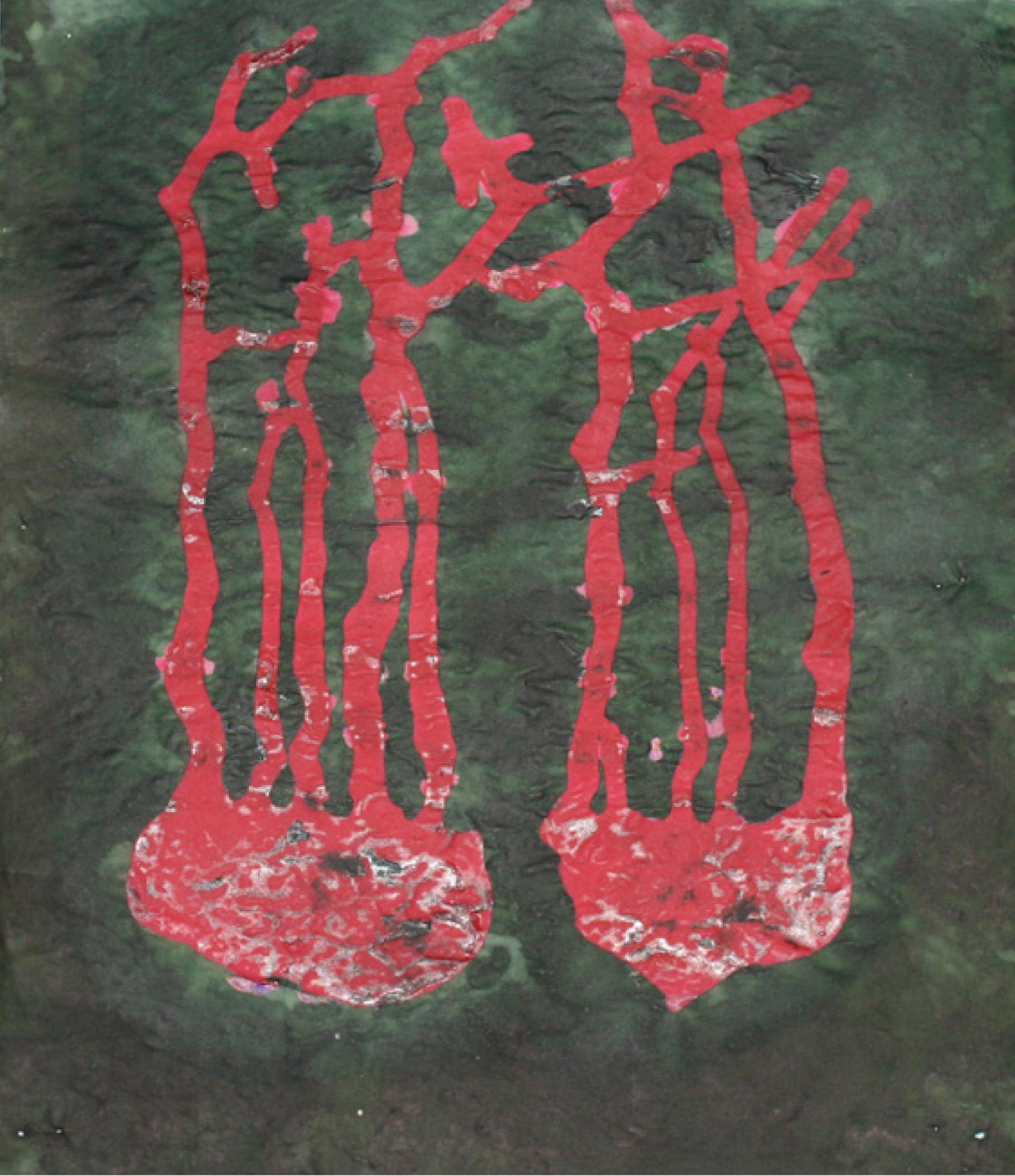30  | Thea Richter | Keimen 1643 | Acryl/Tusche auf Transparentpapier | 30 x 25 cm | Kunstlotterie