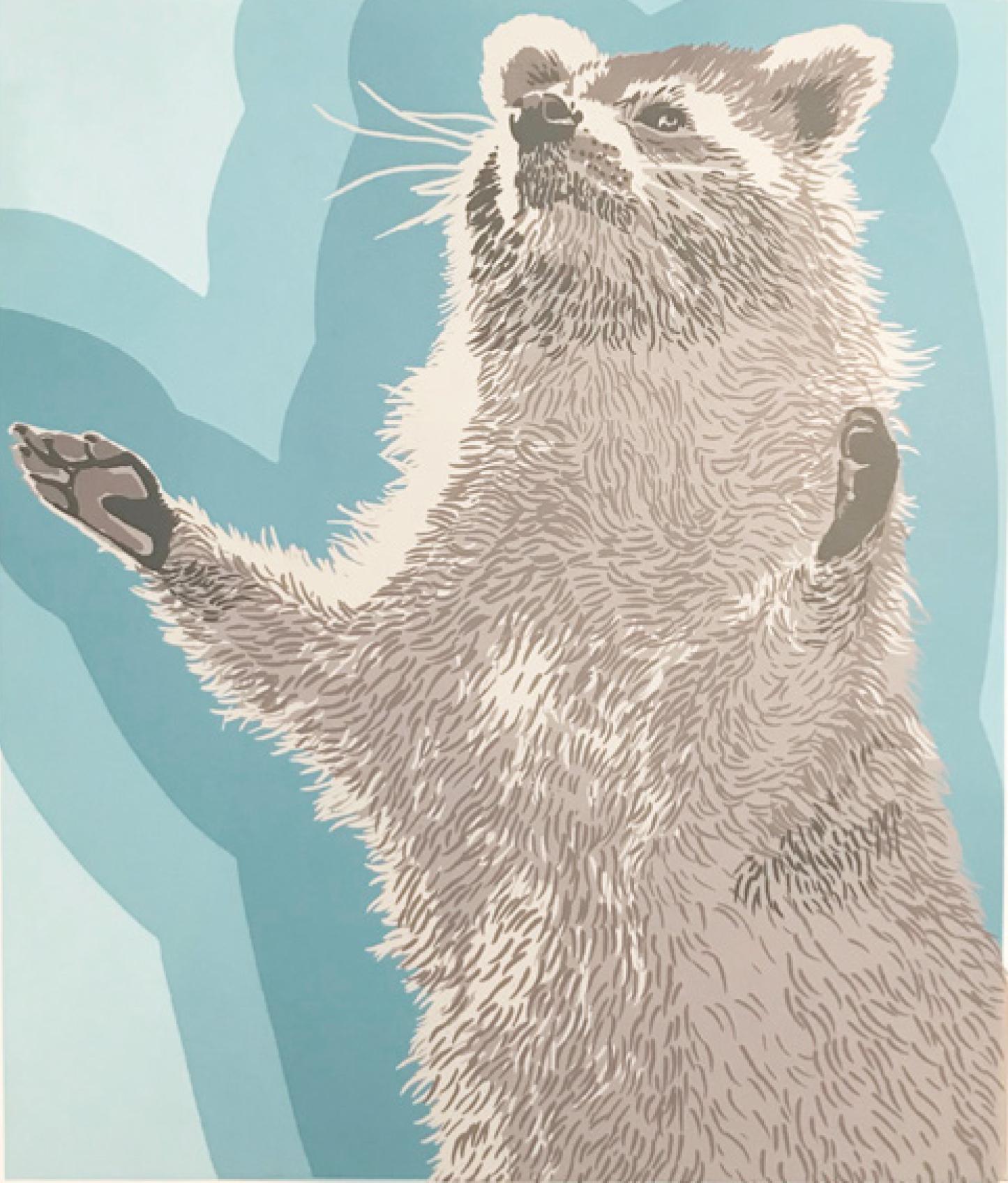 4 | Wiebke Herrmann | Preacher | 2015 | Siebdruck-siebenfarbig | 52 x 36 cm | Kunstlotterie