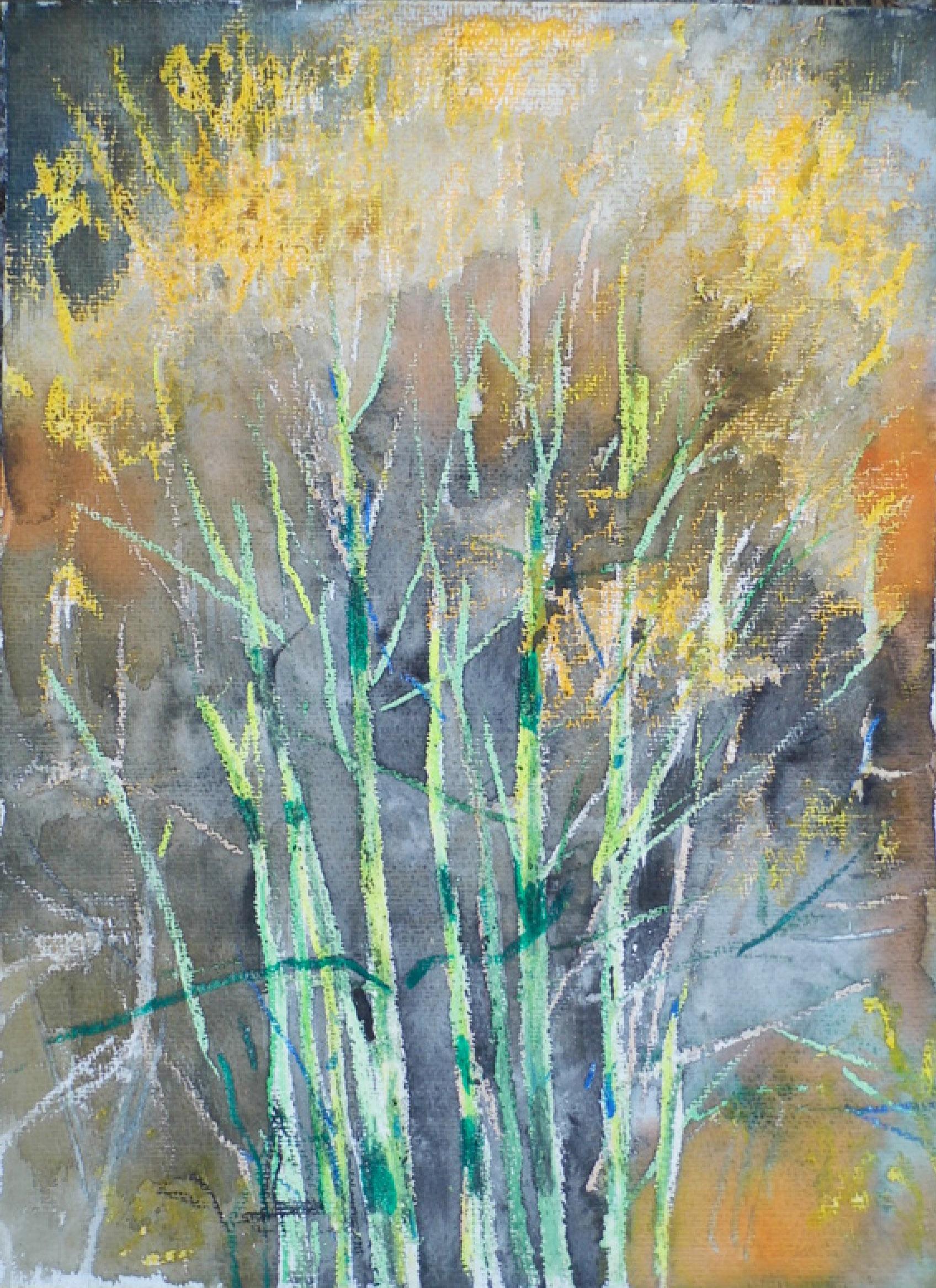 8 | Rita Geißler | 2017 | Aquarell/Ölpastell | 40 x 30 cm | Kunstlotterie