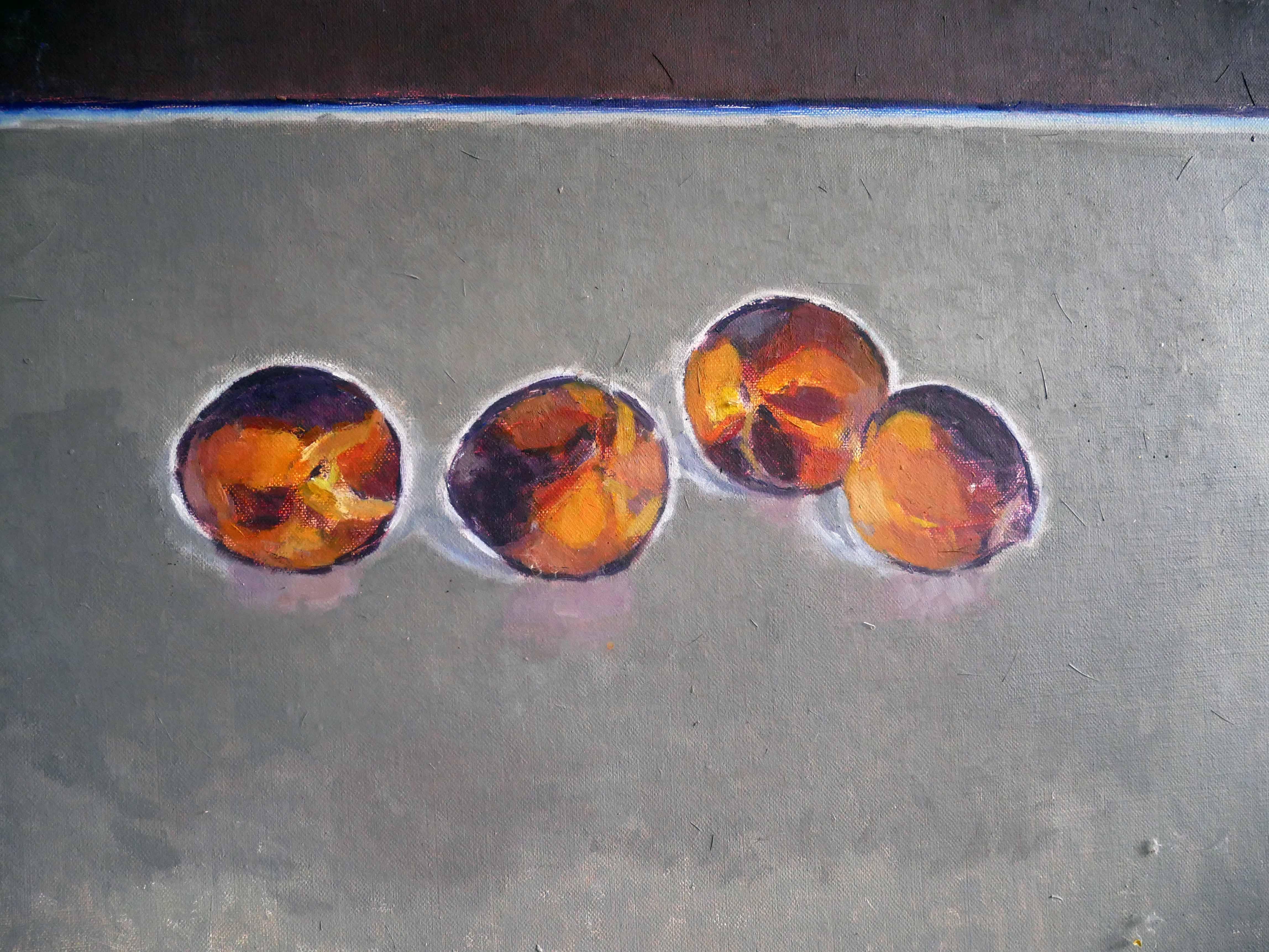 Marianne Dextor Früchtestillleben Öl