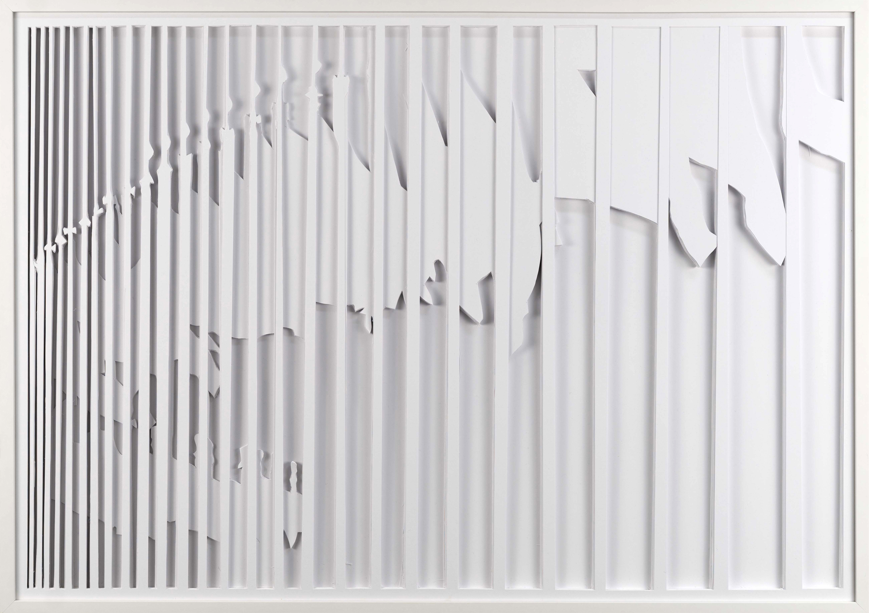 Patricia Westerholz Serie failed filter / flags #04 2018 cut out 70 x 100 x 1,5 cm Foto: Andreas Kempe