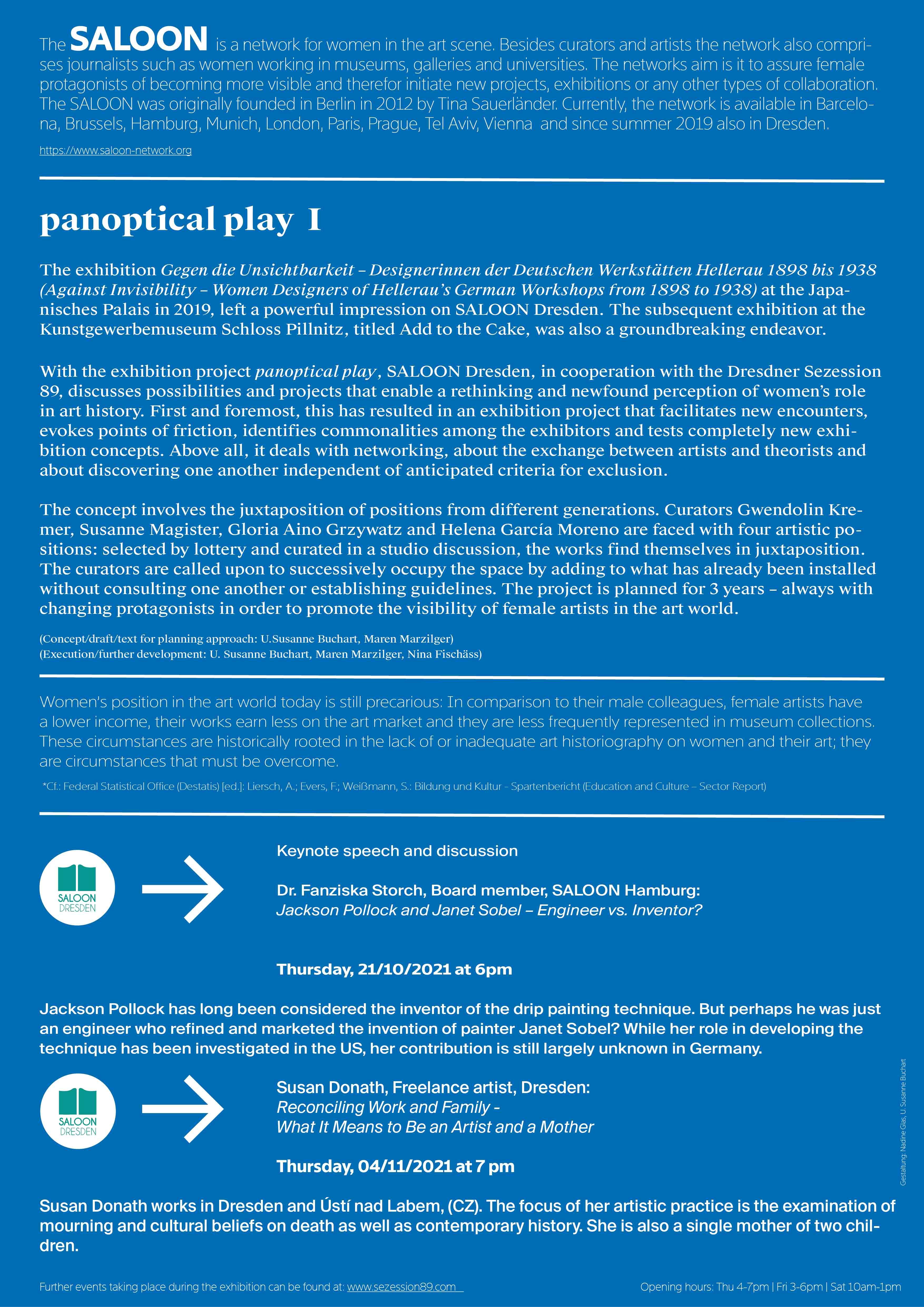 Veranstaltungen panoptical play I englische Version