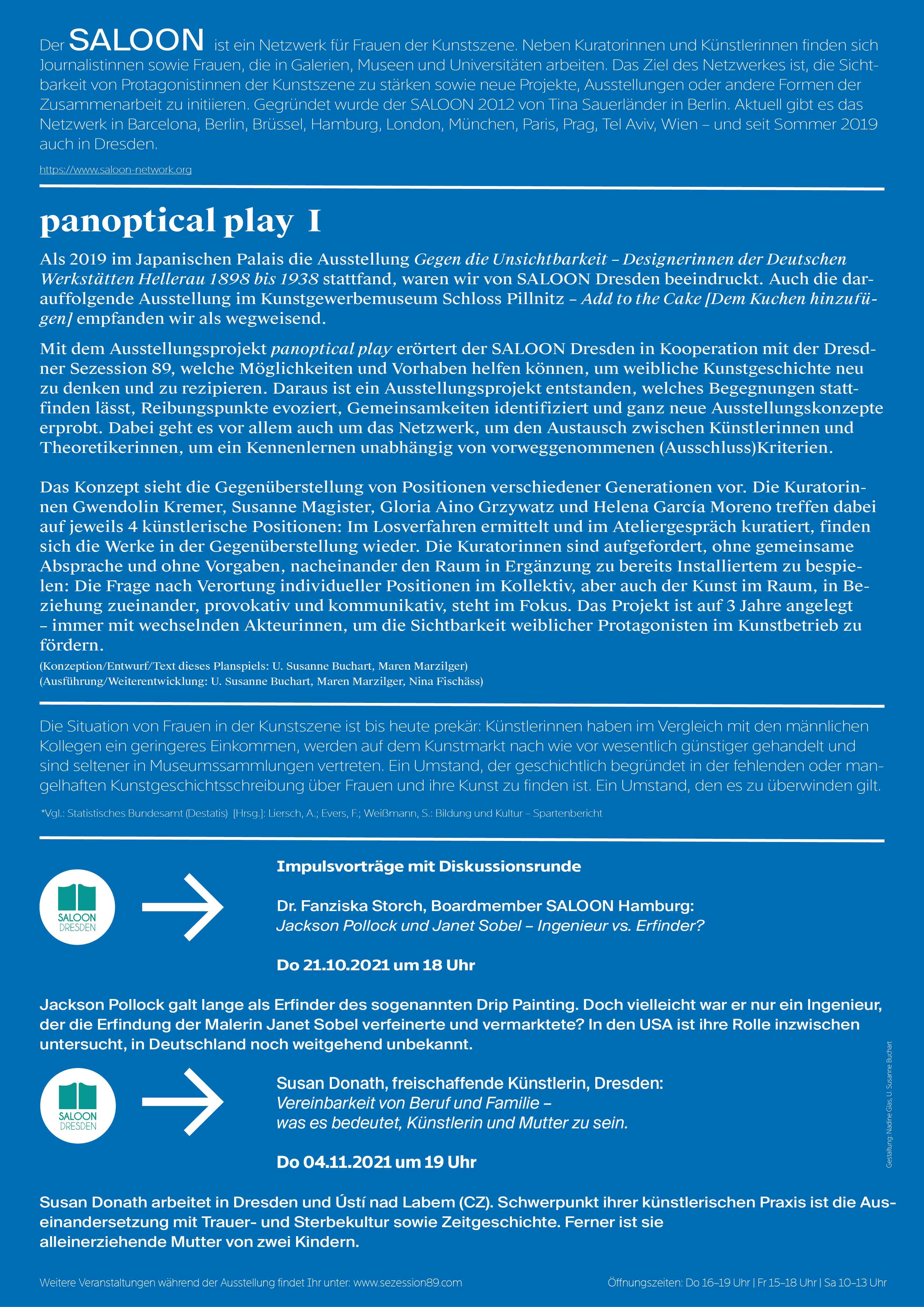 Veranstaltungen panoptical play I