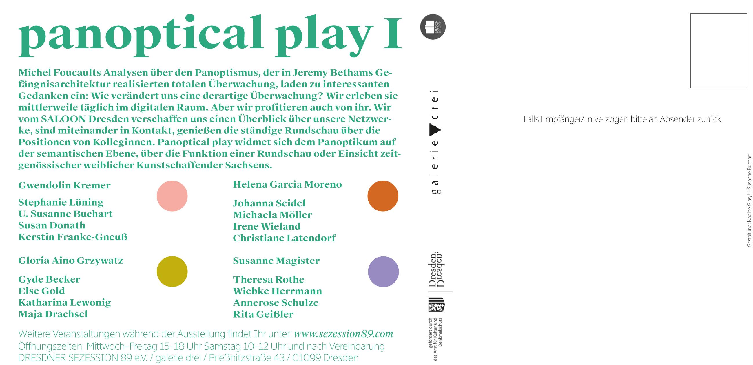 panoptical play I Einladung Rückseite