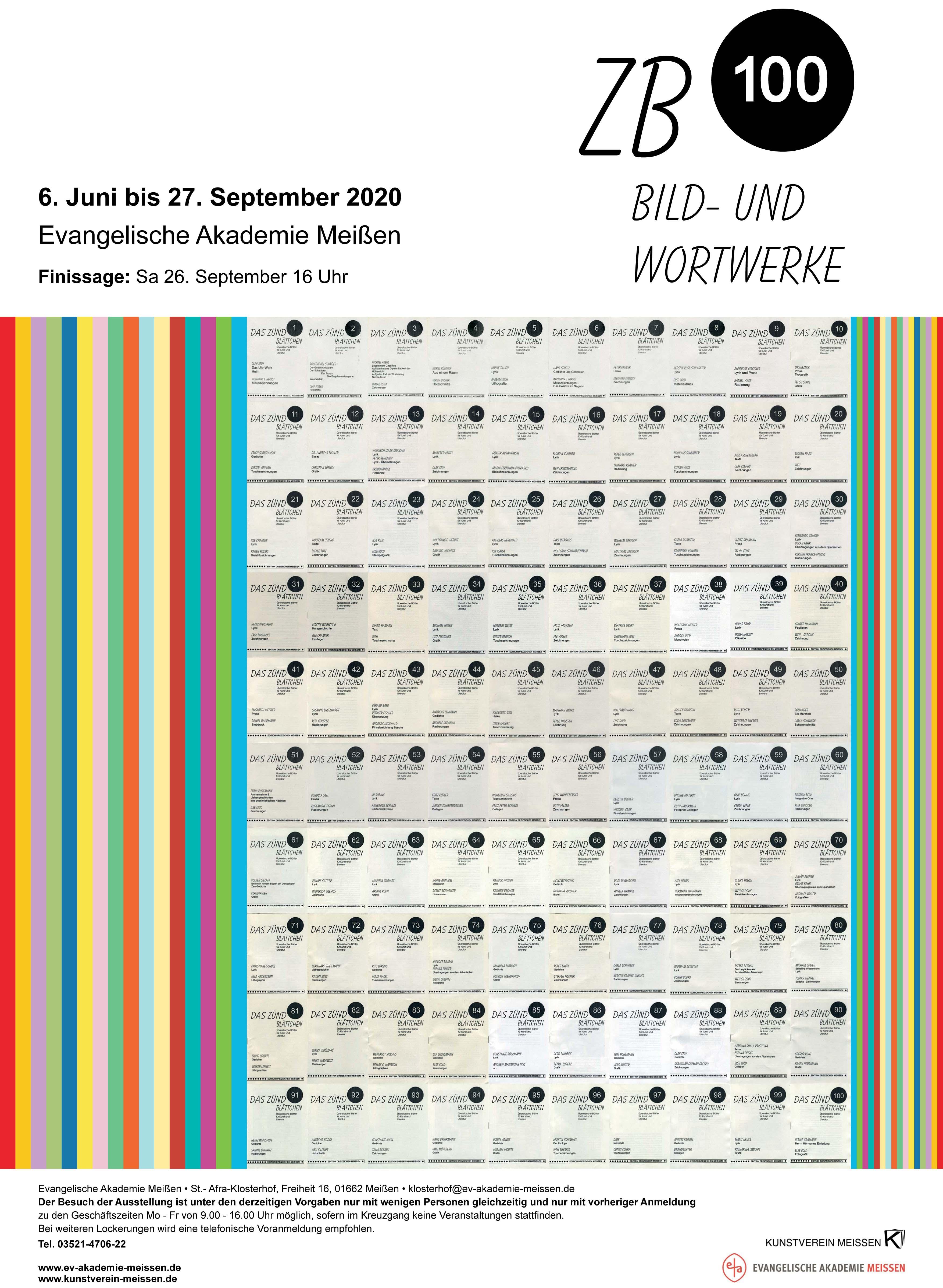 Plakat Zündblättchen ZB 100