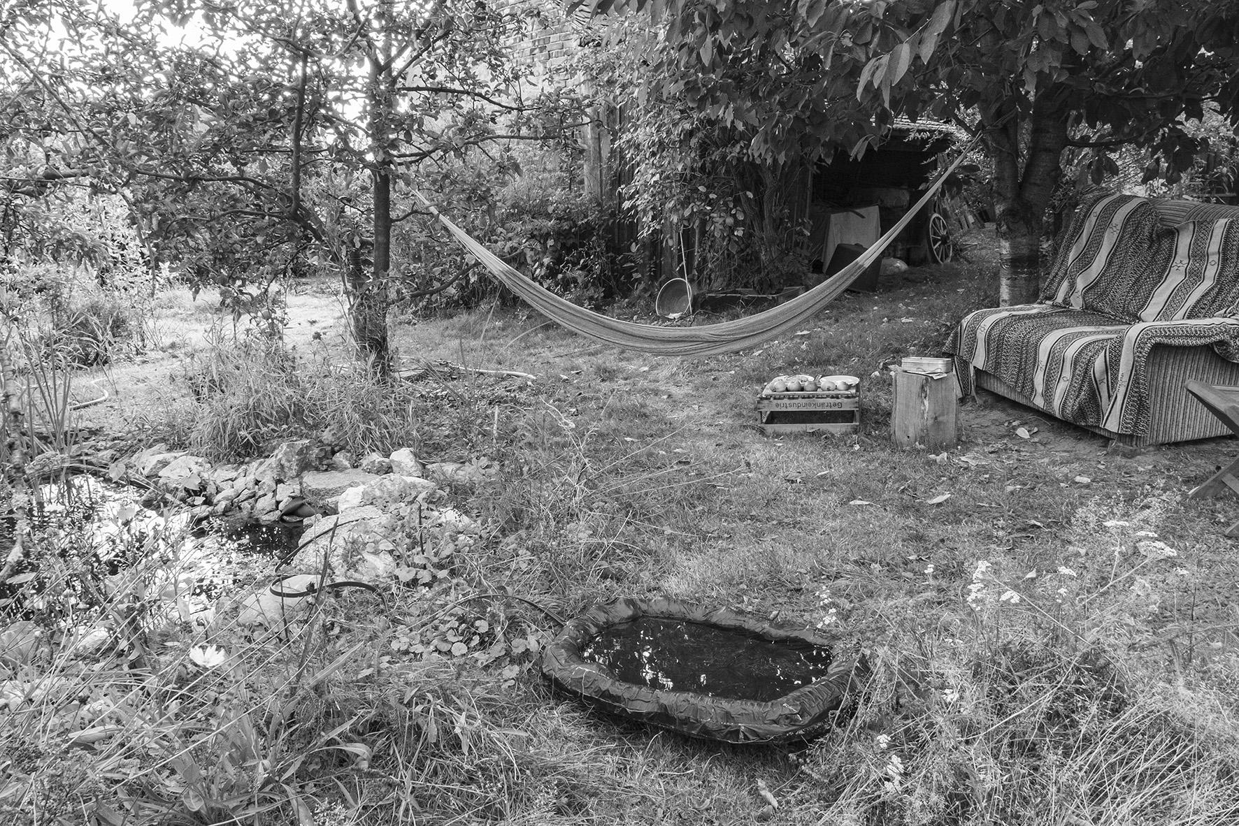 Sabine Eichler, Pfütze im Garten