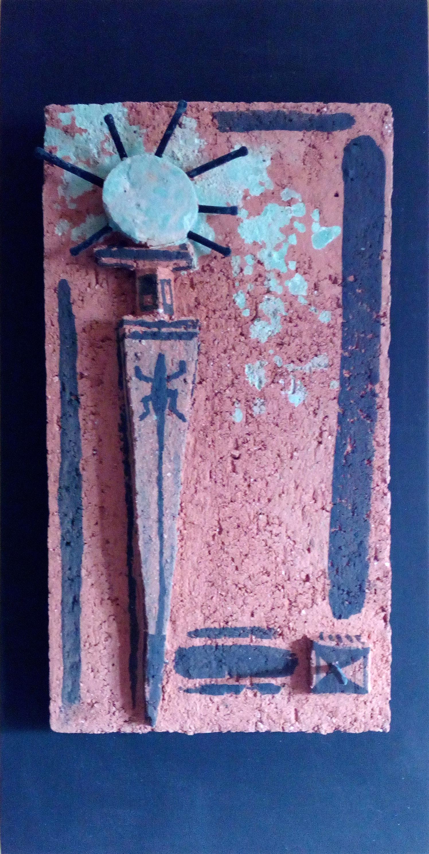 Gabriele Reinemer, Sterbende Sonne, Terrakotta