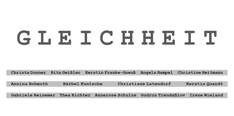 Einladung GLEICHHEIT
