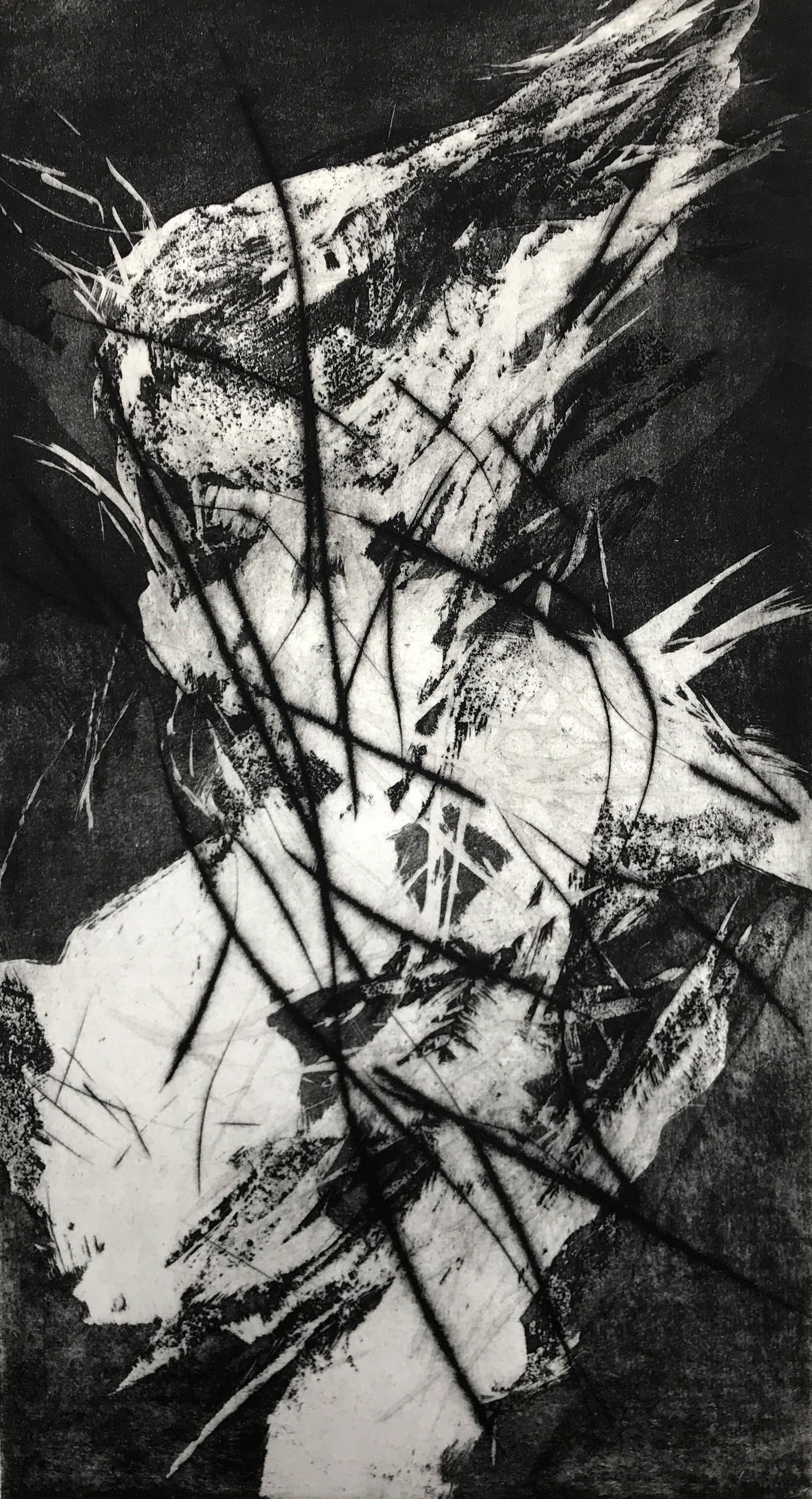 Kerstin Franke-Gneuß, Spirit, 2015, Radierung, 55 x 30 cm