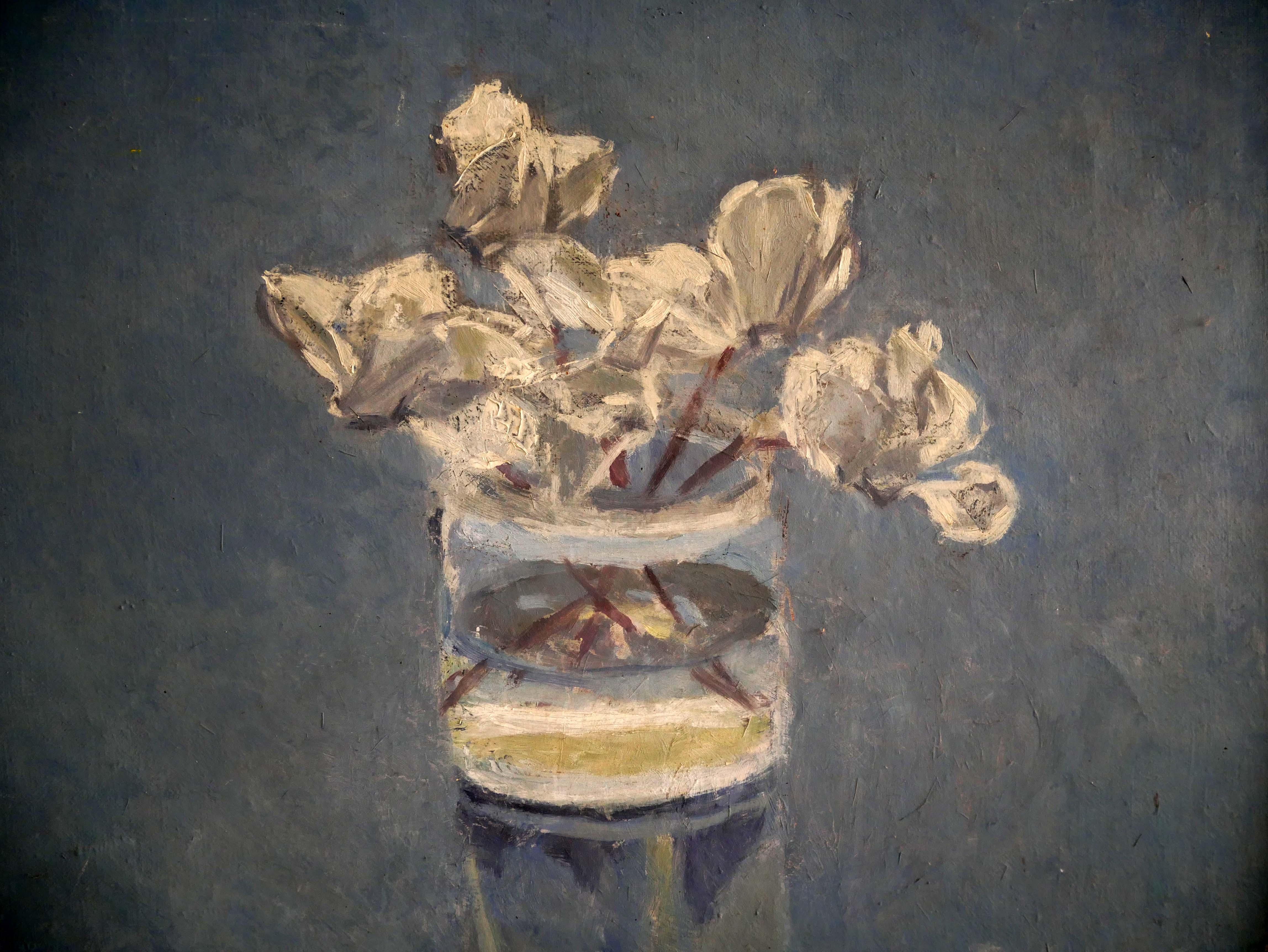 Marianne Dextor, Alpenveilchen, Ölmalerei