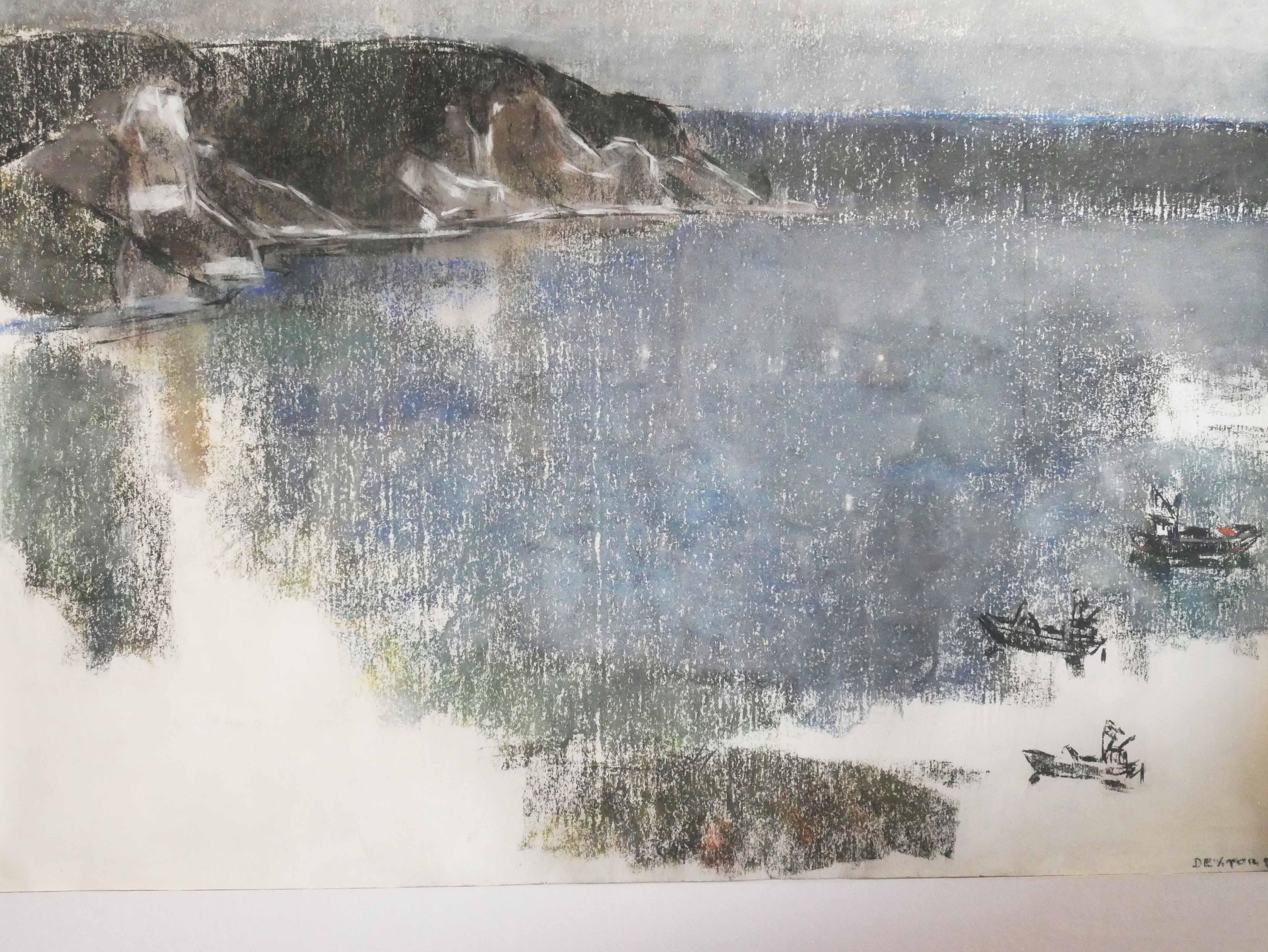 Marianne Dextor, Seelandschaft, Pastell